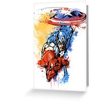 Captain America Color Bomb Greeting Card