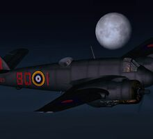 Bristol Beaufighter Nightfighter by Walter Colvin