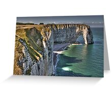 Normandy's White Cliffs - Etretat Greeting Card