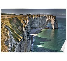 Normandy's White Cliffs - Etretat Poster