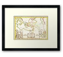 1771 Bonne Map of the New Testament Lands w Holy Land and Jerusalem Geographicus NewTestament bonne 1771 Framed Print