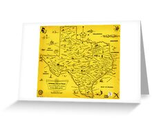 A Literary map of Texas by Dallas Pub Lib (1955) Greeting Card
