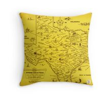 A Literary map of Texas by Dallas Pub Lib (1955) Throw Pillow