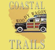 Woody Wagon Surf Blue Trails by Will Snell