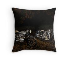 Brough Superior SS100 and 680 Throw Pillow
