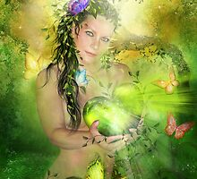 Heart Chakra Goddess by Carol  Cavalaris