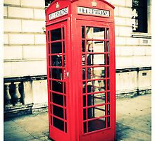 Red telephone box by Yvonne Falkenhagen