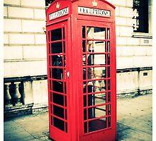 Red telephone box by Yvonne Falkenhagen