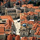 The Old Town of Dubrovnik -  A Bird's Eye View by Tricia Mitchell