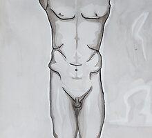 Greek statue - ink drawing by mkART