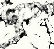 Trio -(070413)- Digital art/mouse drawn/Program: Harmony by paulramnora