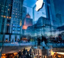 The Life below - 5th Ave Apple Store by Dan Pham