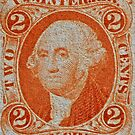 1864 Internal Revenue Two-Cent Stamp by DrBillCreations