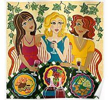 'Three Girlfriends Celebrate'  Poster