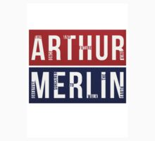 Arthur & Merlin by grinningpixie