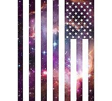American Flag Galaxy Photographic Print