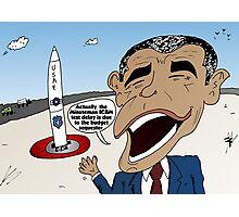 Obama explains the Minuteman ICBM test delay Photographic Print