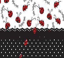 String Of Ladybugs by purplesensation