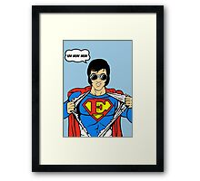 Superman Super Elvis Presley  Framed Print