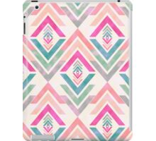 Girly Pink Turquoise Abstract Diamond Triangles iPad Case/Skin
