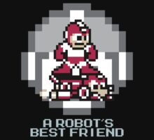 Red Megaman Riding Jet Rush by Funkymunkey