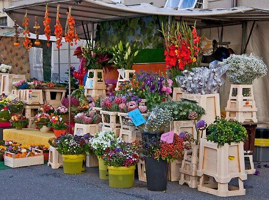 Salzburg Flower Mart by phil decocco