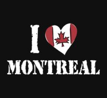 I Love Montreal Canada by HolidayT-Shirts