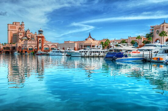 Marina and Atlantis Towers - Paradise Island, The Bahamas by 242Digital