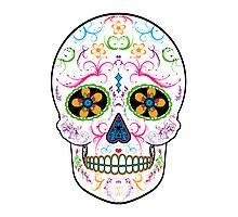 Day of the Dead Sugar Skull - Bright Multi Color Photographic Print