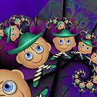 Leprechauns in a Psychedelic World by lacitrouille