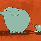 Little Skateboard Elephant by Carla Martell