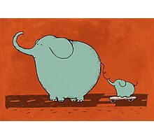 Little Skateboard Elephant Photographic Print