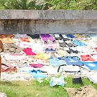 Woman and Washed Clothes by ladyogaga