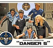 "Danger 5 Lobby Card #3 - ""In the balance"" by dinostore"