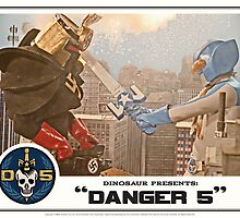 "Danger 5 Lobby Card #4 - ""Danger Damage"" by dinostore"