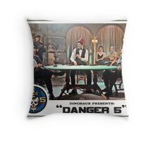 "Danger 5 Lobby Card #8 - ""Die John Baccarat!"" Throw Pillow"