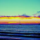 LARGS BAY SUNSET 10/04/13 by JAMES LEVETT