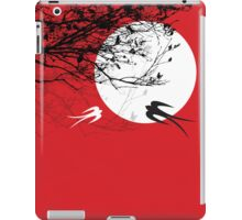 Oriental Swallows In Moonlight  iPad Case/Skin