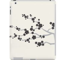 Black Sakura Cherry Blossoms Flowers iPad Case/Skin