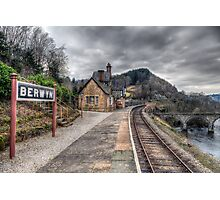 Berwyn Railway Station Photographic Print
