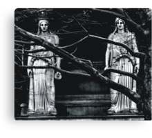 Gothic Angel Statue Canvas Print