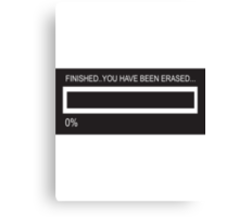 RAM Design You've been Erased Plate #7 Canvas Print