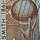 1961 Naismith Basketball Stamp by DrBillCreations