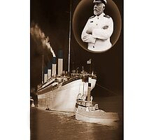 ☝ ☞ EJ SMITH CAPTAIN OF THE TITANIC & TITANIC -IPHONE CASE-Titanic leaving Belfast with two guiding tugs ☝ ☞ by ╰⊰✿ℒᵒᶹᵉ Bonita✿⊱╮ Lalonde✿⊱╮