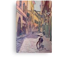Waiting Bike Canvas Print