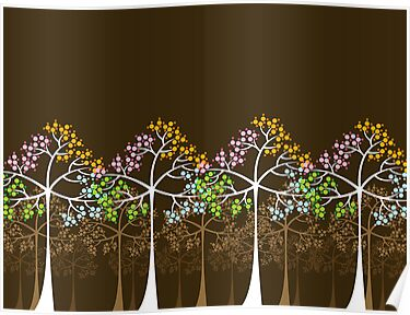 Four Seasons Trees by fatfatin