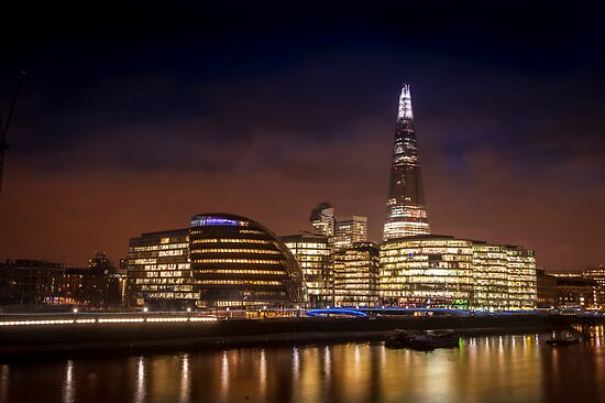 The Shard at night, London. by DonDavisUK