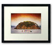 Tropical Cargo Framed Print