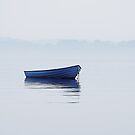 Boat in fog by Henrik Hansen