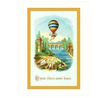 French Hot Air Balloon Art Print